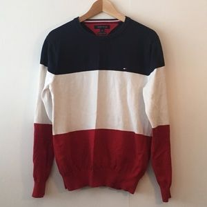 Tommy Hilfiger Colorblock Sweatshirt Sz Medium